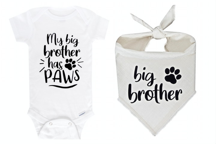 My Big Brother Has Paws Set - Ivory Fray