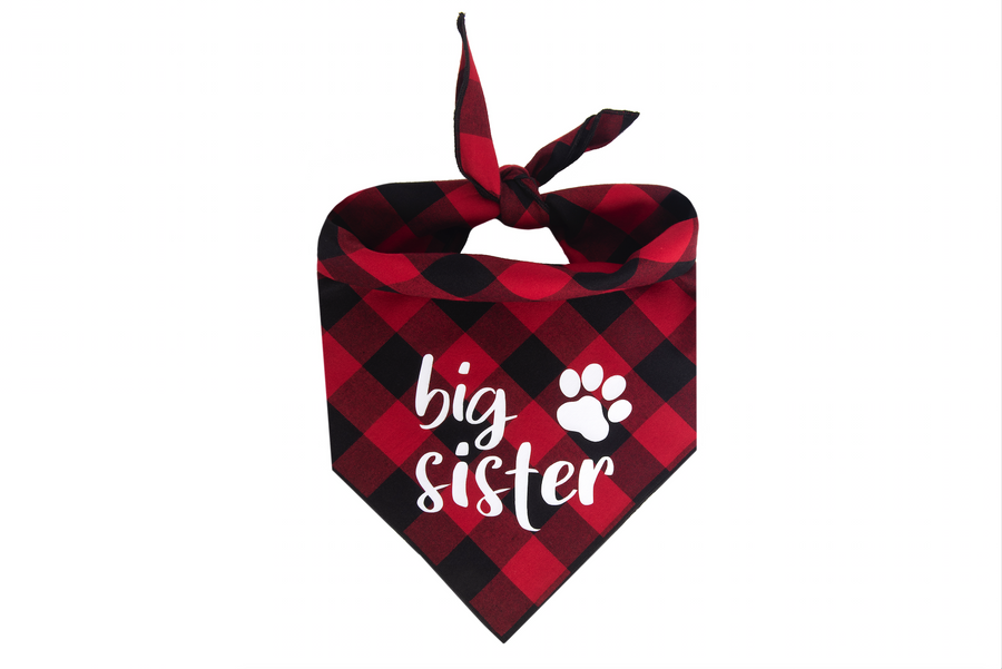 My Big Sister Has Paws Set - Red/Black