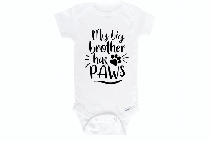 My Big Brother Has Paws Onesie