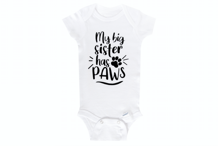 My Big Sister Has Paws Onesie