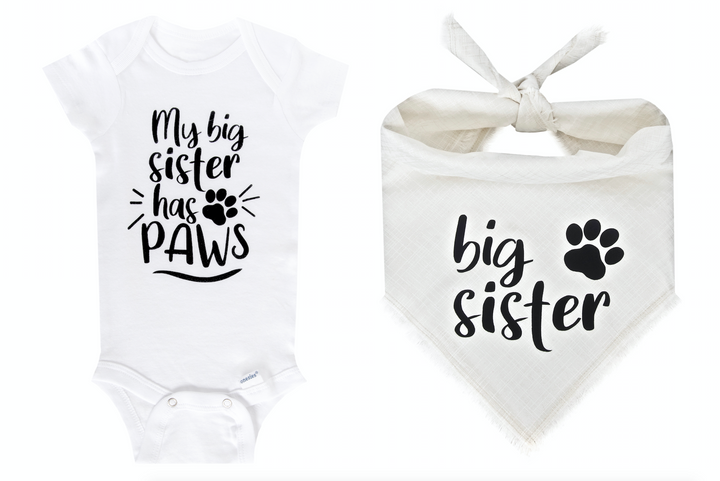 My Big Sister Has Paws Set - Ivory Fray