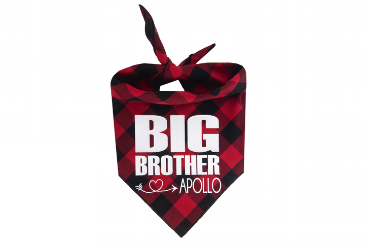 Big Brother Personalized - Red/Black