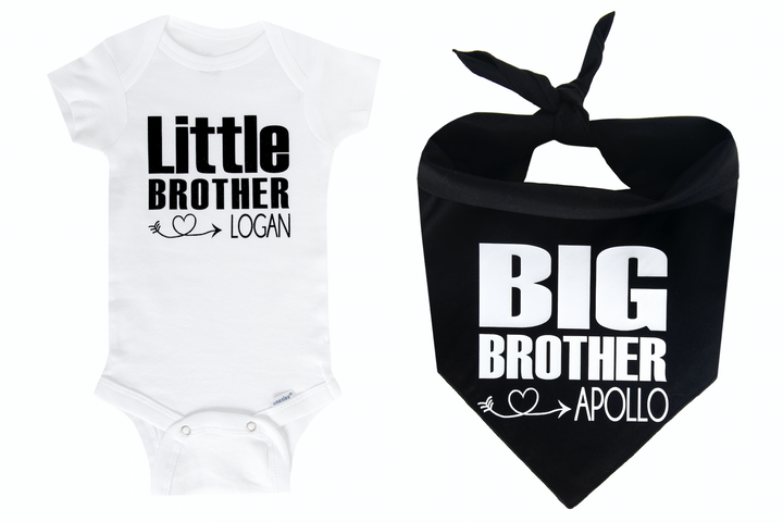 Big Brother/Little Brother Personalized Set - Black