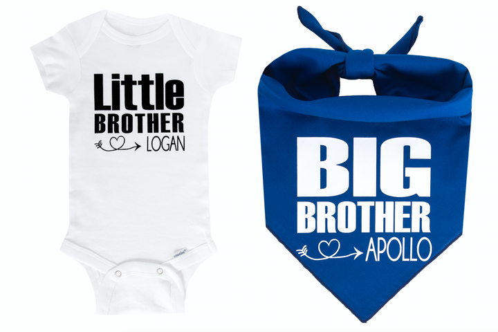 Big Brother/Little Brother Personalized Set - Royal Blue