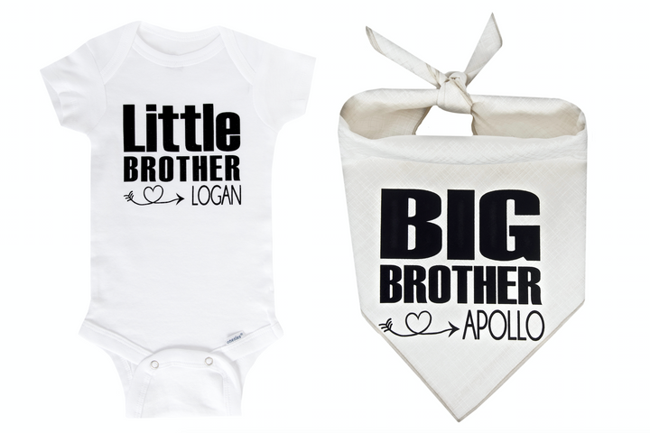 Big Brother/Little Brother Personalized Set - Ivory