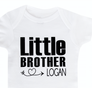 Little Brother Personalized Onesie