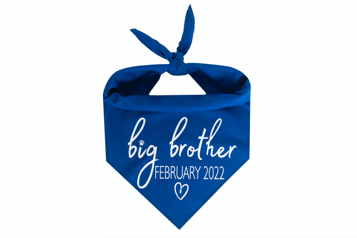 Big Brother with Due Date - Royal Blue