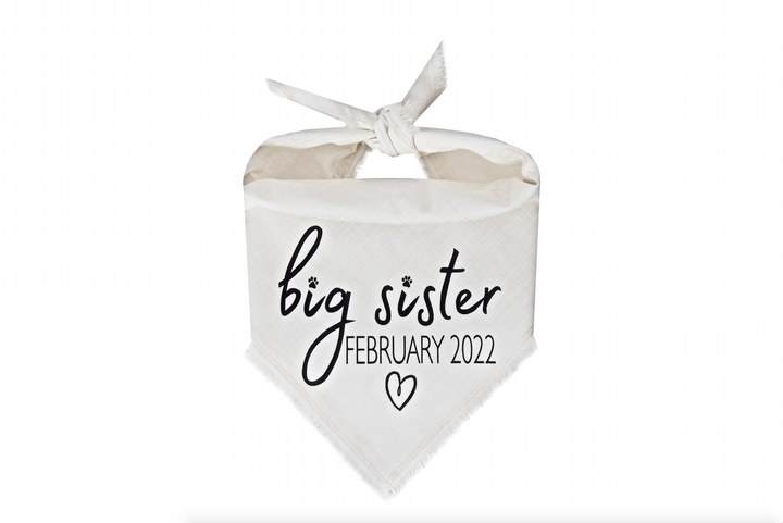 Big Sister with Due Date - Ivory Fray