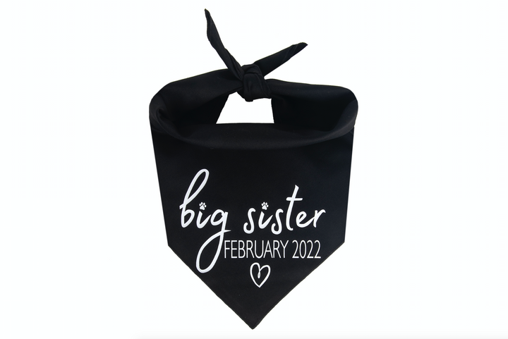 Big Sister with Due Date - Black
