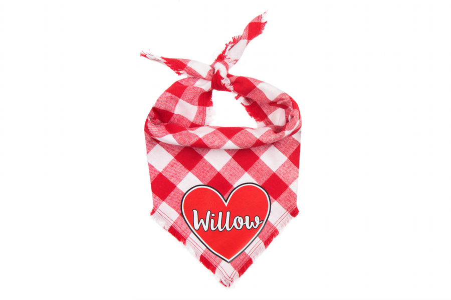 Personalized True Love Fray Bandana