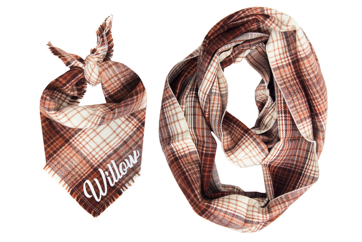 Personalized Nutmeg Fray Bandana + Scarf