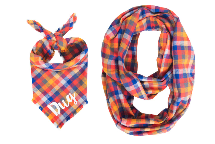 Personalized Harvest Fray Bandana + Scarf