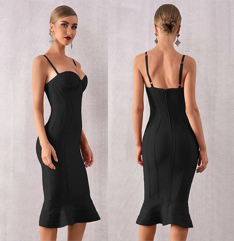 Black Cuvati Elegant dresses, dresses near me, dresses with sleeves, cocktail dresses, new year's formal dresses, prom dress, casual dresses, evening gowns, sundress, classy dresses to wear to a wedding, pageant gown, brand dresses, designer party dresses, Midi Club Dress Vestidos Celebrity Evening Party Dresses