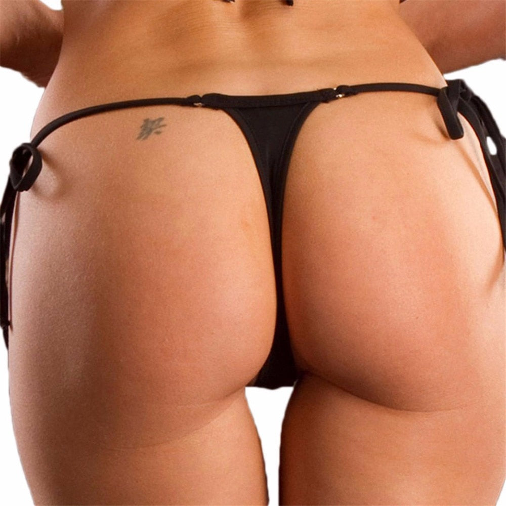 Micro Thong String Bikini Bottoms - 7 Colors