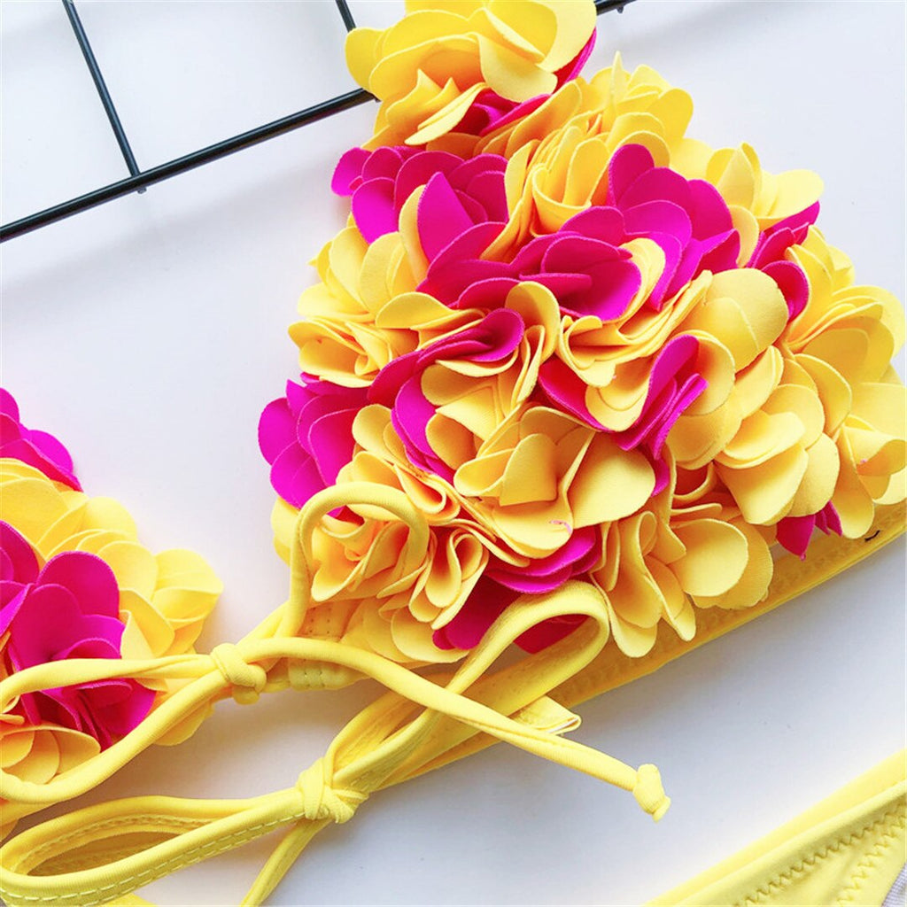 Flower Two-Piece Bikini - 3 Colors