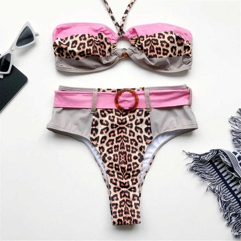 Leopard High Waist Bikini (5 Colors)