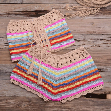 Crochet Handmade Two Piece Cover Up