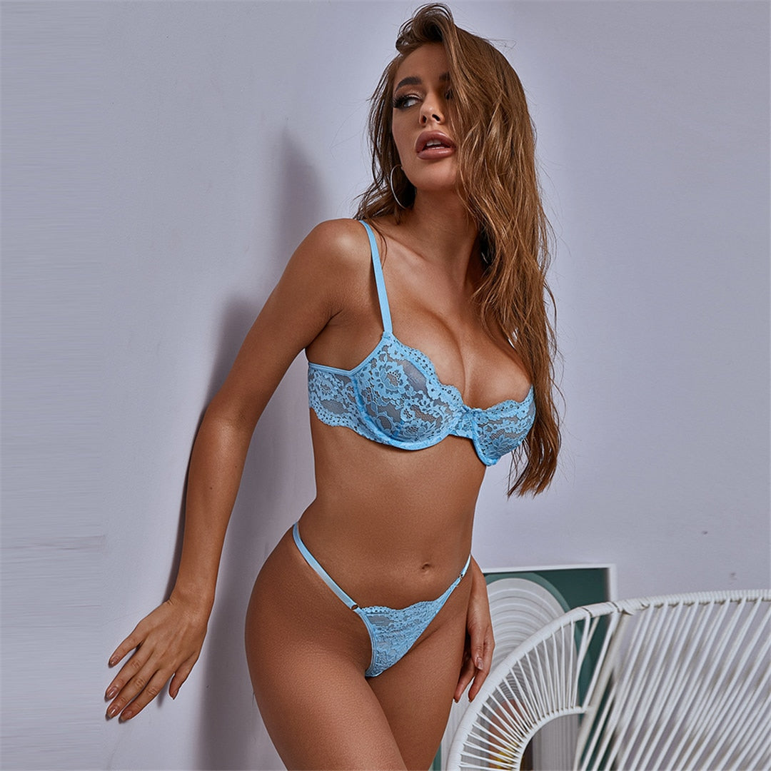 Lace Lingerie Push up Bra Set