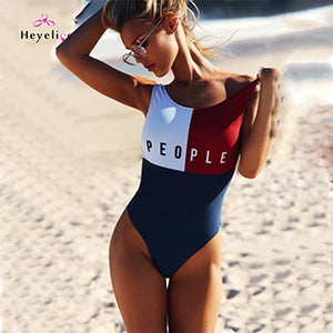 People Vintage One Piece Swimsuit