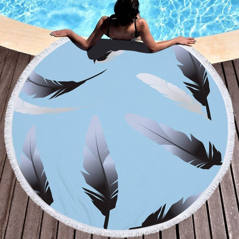 Large Round Beach Towel - Multiple Styles
