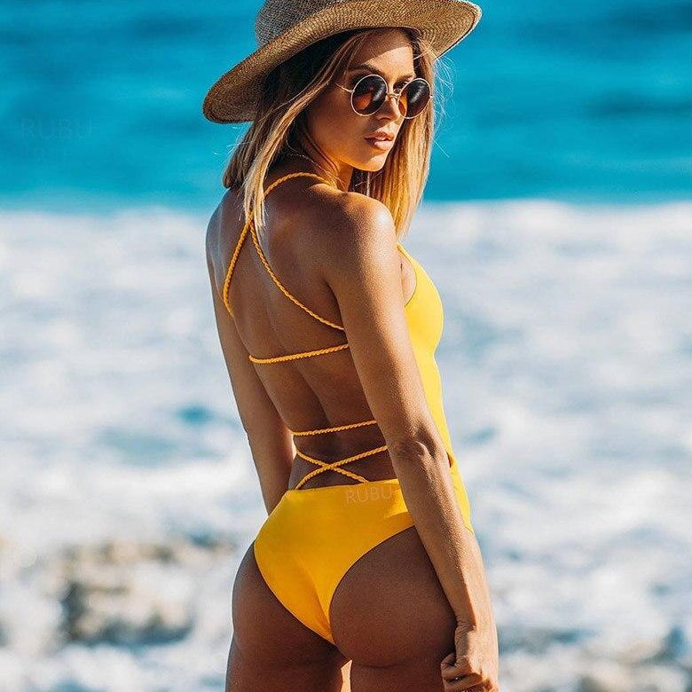 Backless One Piece Swimsuit
