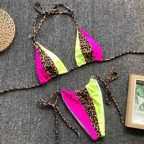 Neon Two Piece Bikini
