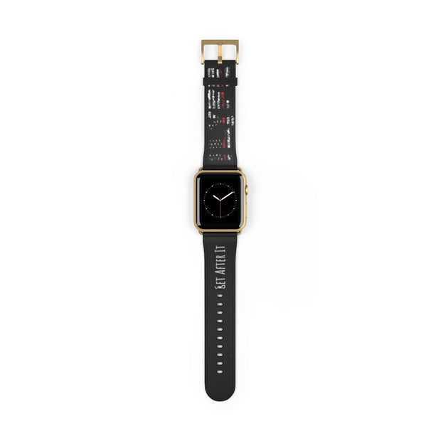 Thin Red Watch Band