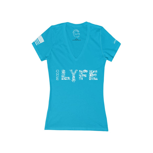 Lift for the 22 - Women's Deep V-Neck Tee