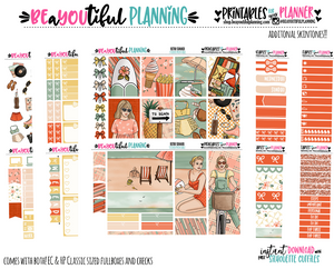 Retro Summer Printable Planner Stickers