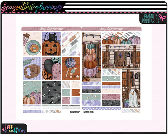 Halloween Treats Weekly Printable Planner Stickers