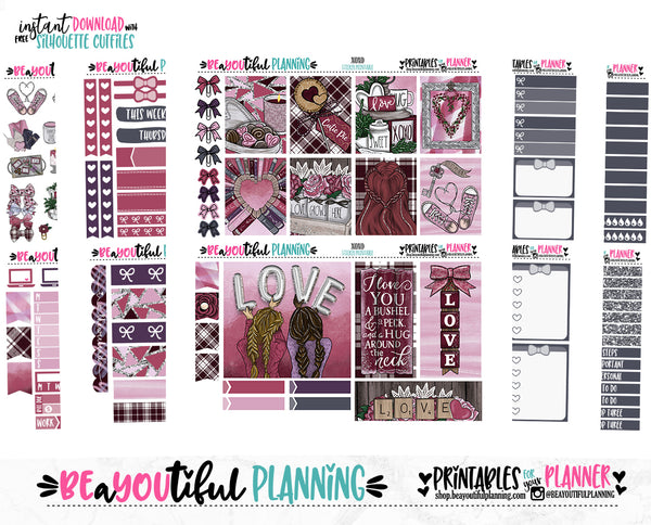XOXO Galentines Weekly Printable