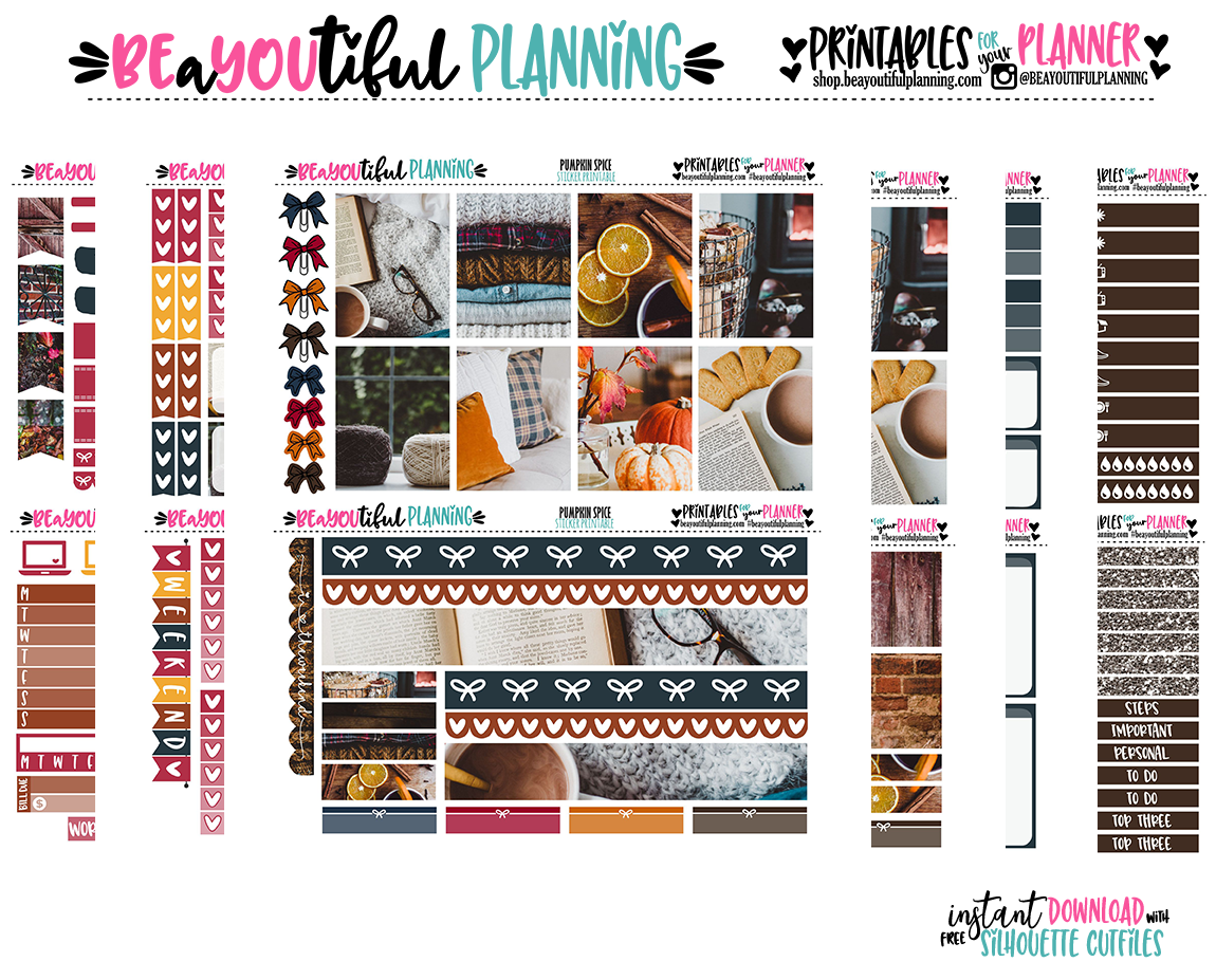 Pumpkin Spice Real Photo Weekly Printable