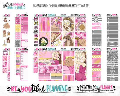 XOXO Mom Printable Planner Stickers