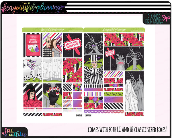 It's Showtime Weekly Printable Planner Stickers