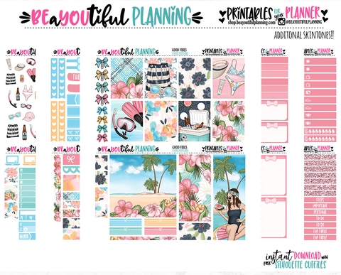 Good Vibes Printable Planner Stickers
