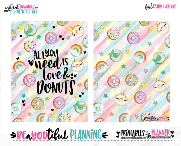 Love & Donuts Cover Printable