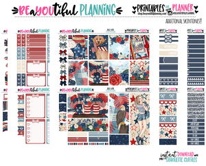 July 4th Printable Stickers