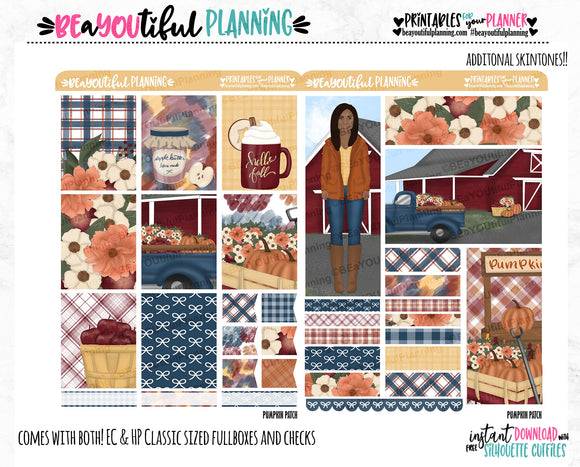 Pumpkin Patch Weekly Printable Planner Stickers