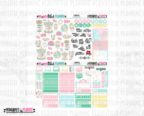 Carnival Printable Planner Stickers