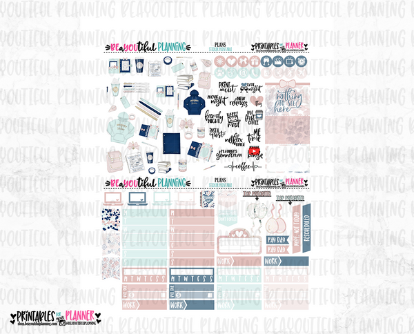 Plans and Dreams Printable Planner Stickers
