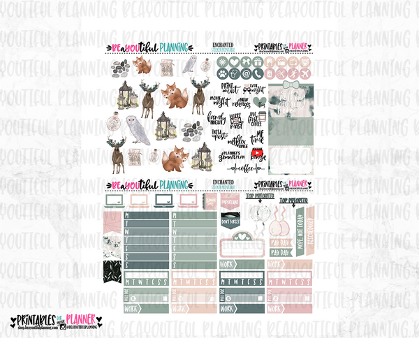Enchanted Printable Planner Stickers