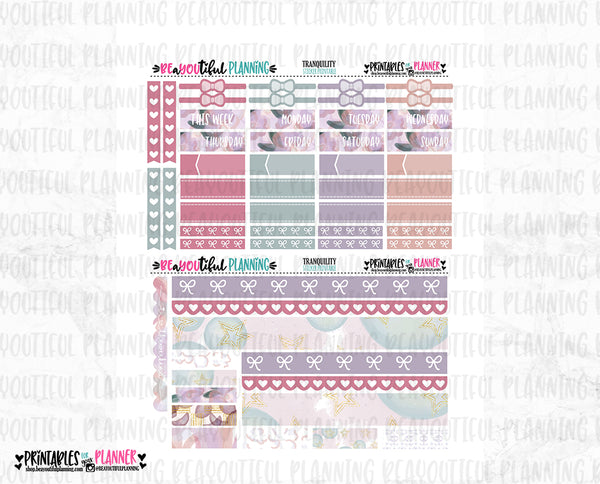 Tranquility Printable Planner Stickers