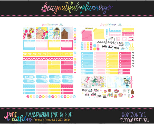 Mom - Weekly Planner Printable -Choose from - Vertical - PP Weeks - Horizontal