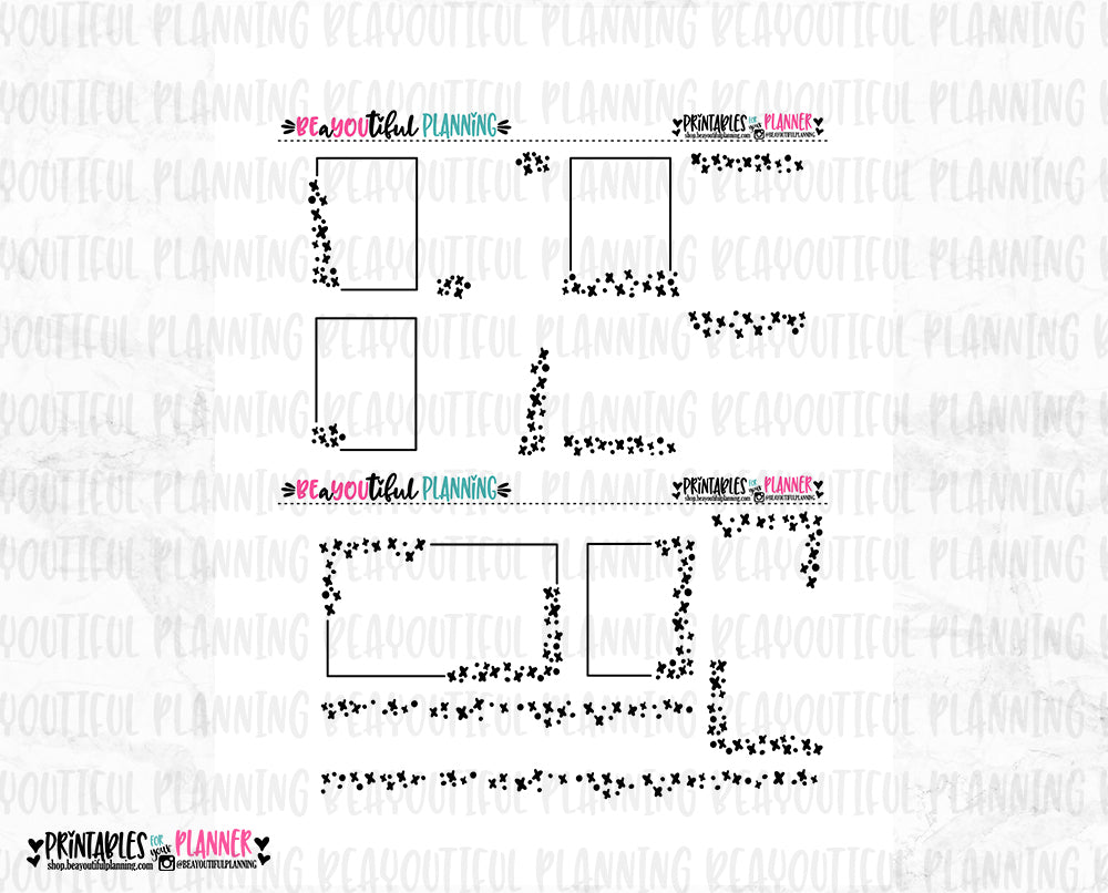 X's and O's Foil Ready Overlays Printable