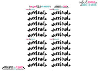 Weekend Hearts Banner Foil Ready Printable