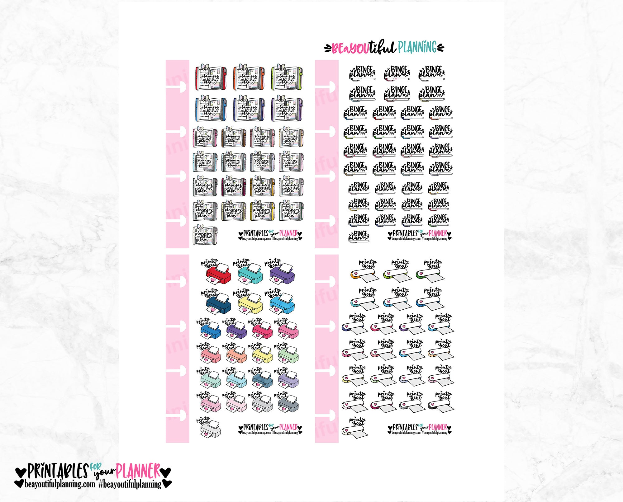 Print n Cut Micro HP Printable Bows & Hearts
