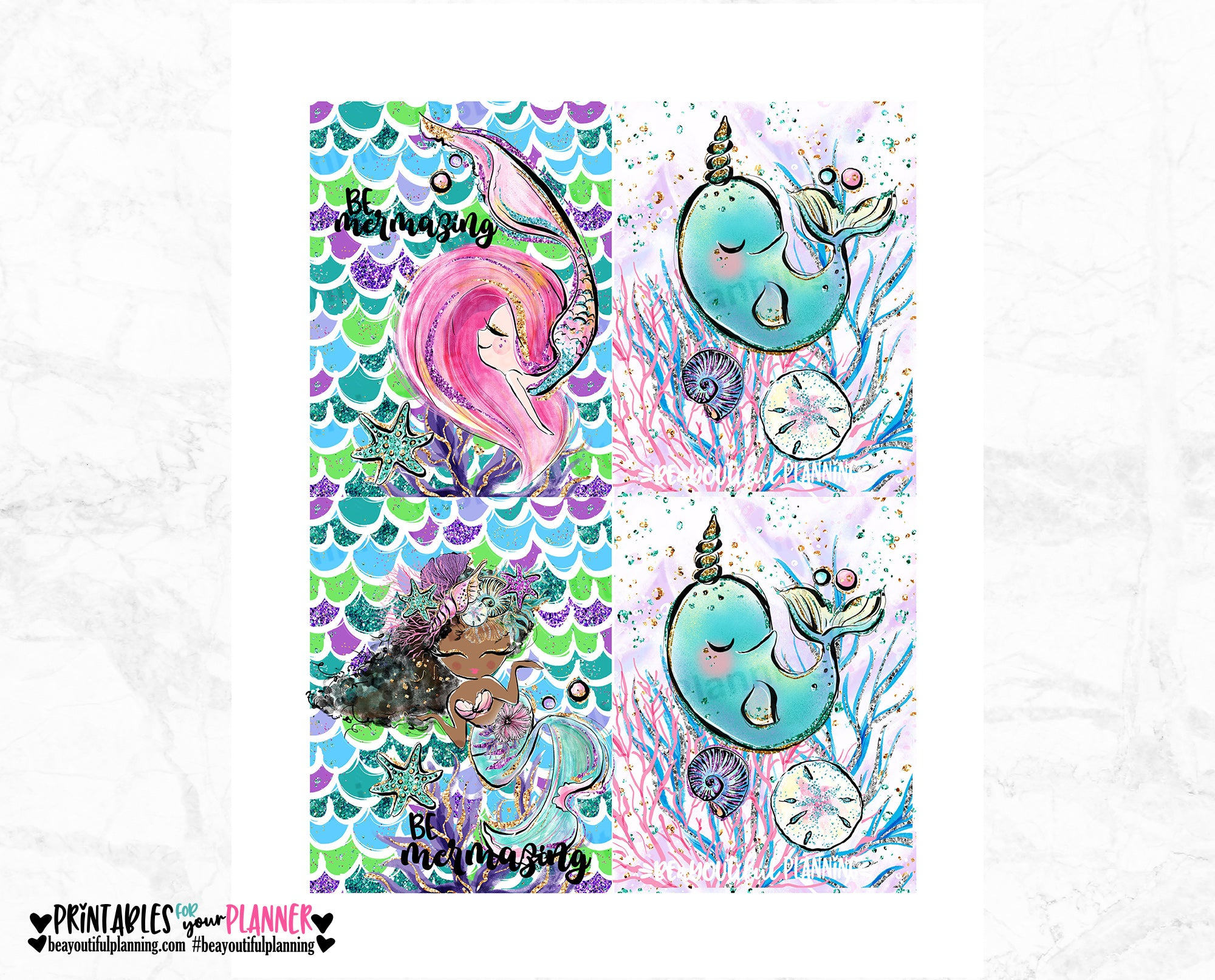 Mermazing Cover Micro HP Printable