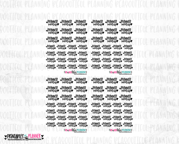 Planner Meetup Foil Ready Printable