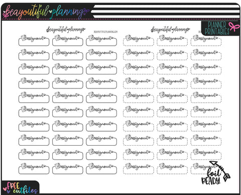 Assignment Student Planner Functional Printable