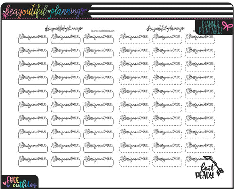Assignment Due Student Planner Functional Printable